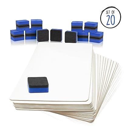 lapboards - cantidad de borrado en seco pizarra Pack con 20 ...