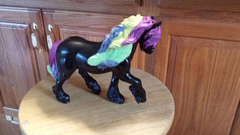 Breyer custom sassy rainbow pony