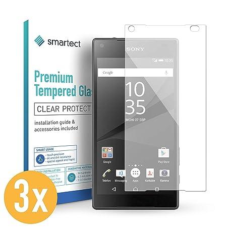 smartect Panzerglas für Sony Xperia Z5 Compact [3 Stück] - Displayschutz mit 9H Härte - Blasenfreie Schutzfolie - Anti Finger