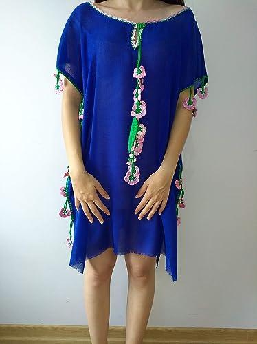 110d787090b Amazon.com: dark blue dress Coton dress Handmade handcraft tunic,dresses  maxi,midi and mini with different colours embroidered bohemian dress:  Handmade