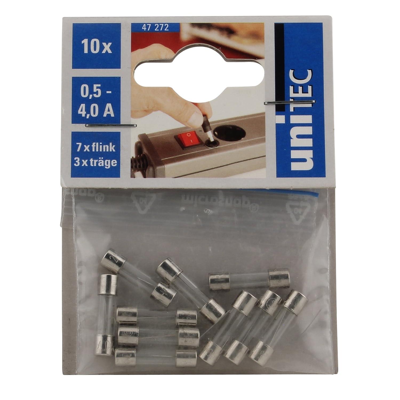5 x 20 mm Unitec 47272 Feinsicherung-Set 250 V