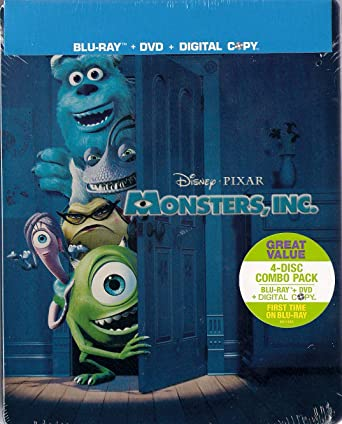 Amazon com: Monsters, Inc  [Blu-ray/DVD Combo] SteelBook