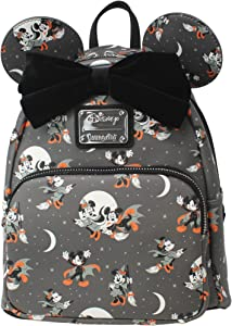 Loungefly Disney Mickey and Minnie Mouse Halloween Womens Double Strap Shoulder Bag Purse