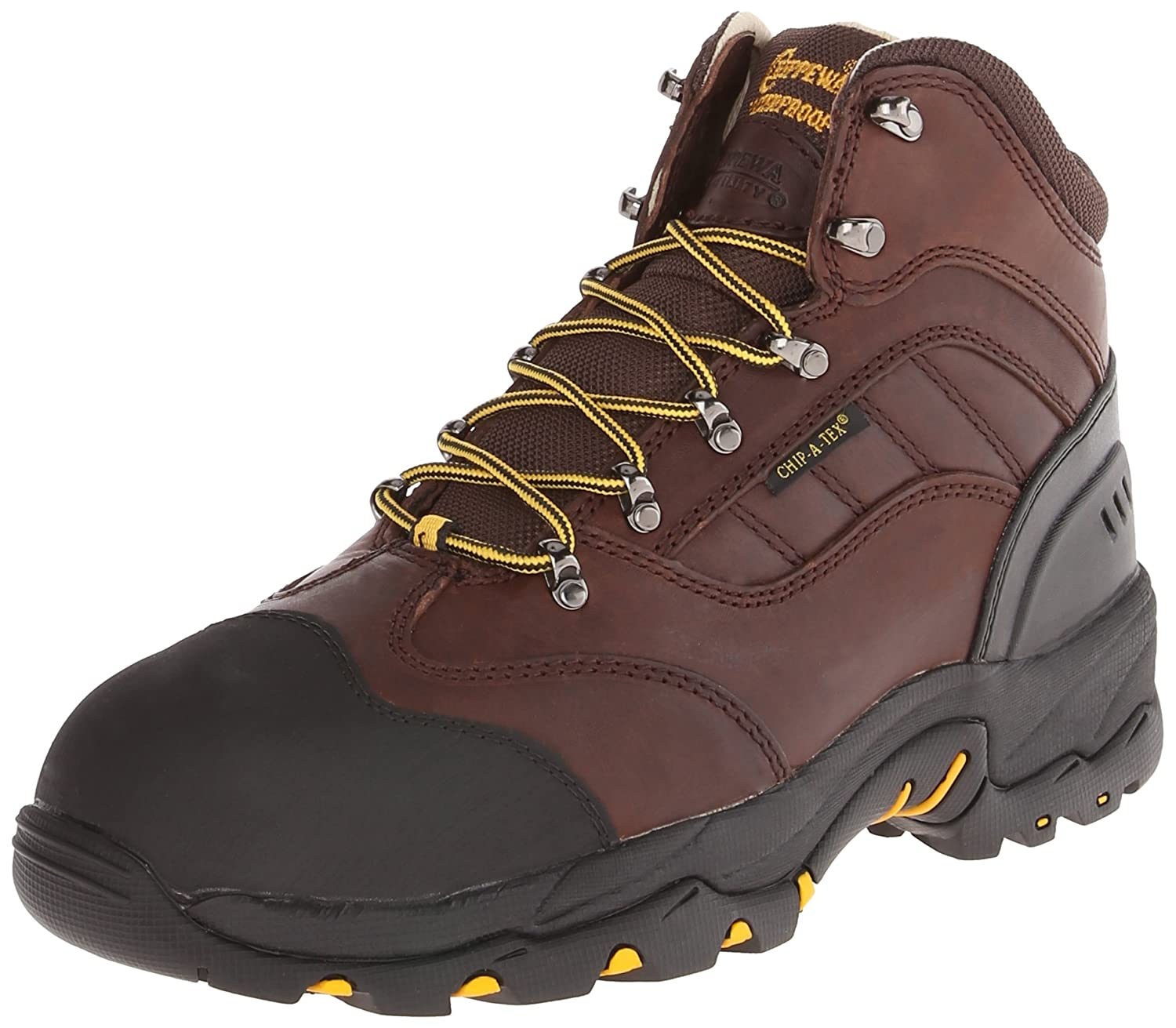 Men's 6 Inch Chocolate Oiled Waterproof Comp Toe Lace-Up Hiking Boot