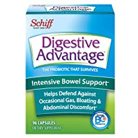 Intensive Bowel Support Capsules, Digestive Advantage (96 Count In A Box) - Helps Defend Against Occasional Gas, Bloating, Abdominal Discomfort and Diarrhea*, Supports Digestive & Immune Health*