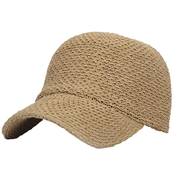fc1bf51f265 WITHMOONS Casquette de Baseball Baseball Cap Summer Paperstraw Mesh for Men  Women KR1960 (Beige)  Amazon.fr  Vêtements et accessoires