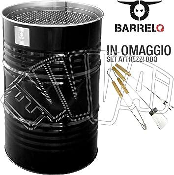 BarrelQ Big negro – Barbacoa barril de petróleo BBQ Brasero mesa ...