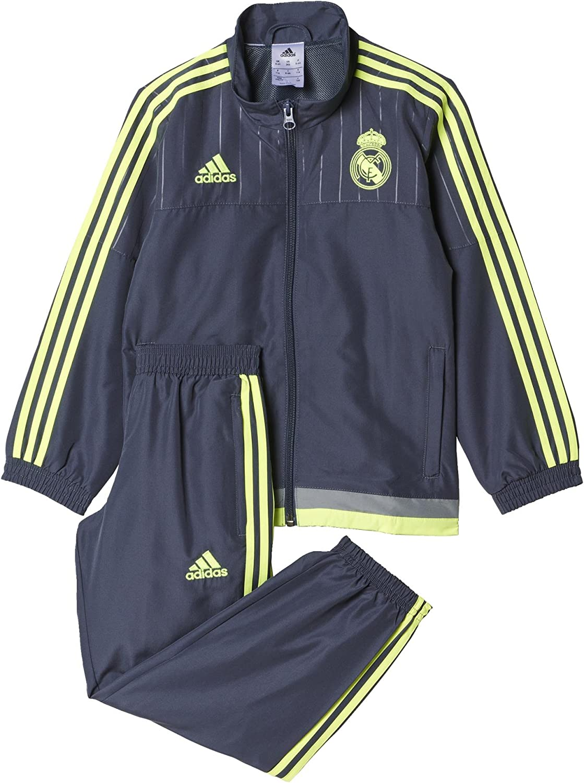 adidas Real Madrid CF PR Suit I 2015/2016 - Chándal: Amazon.es ...
