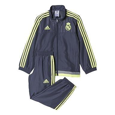 5df21888cee1f adidas Survêtement Enfant Football Real Madrid Club de pr I – Noir  Jaune esmuin