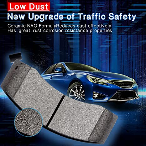 For 2003-2004 Audi RS6 Hart Brakes Front Rear Low Dust Ceramic Brake Pads