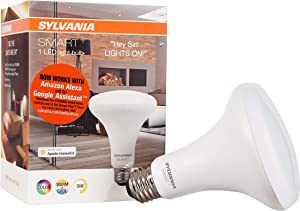 SYLVANIA SMART+ Bluetooth Full Color and Tunable White BR30 LED Bulb, Fully Dimmable, Works with Amazon Alexa, Apple HomeKit and Google Assistant, 1 pack