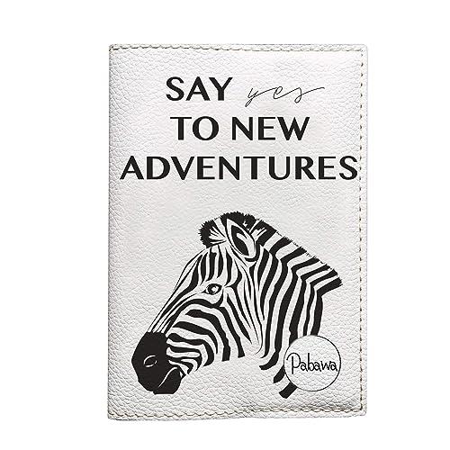 amazon com adventure passport cover modern eco leather holder