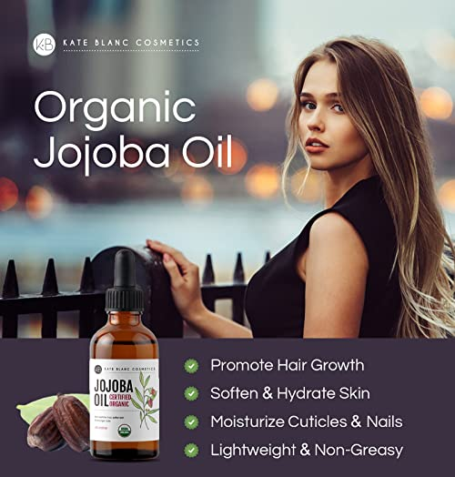 Organic Jojoba Oil - Great treatment for Face, Lips, Cuticles, Stretch Marks, Beard