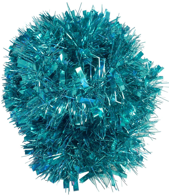 Christmas Concepts® 2 Metre Various Colour Chunky/Fine Christmas Tinsel - Christmas Decoration - High Quality Tinsel (Turquoise)