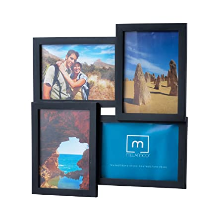 4 Opening 5x7 Black Collage Picture Frame Amazon Kitchen Home