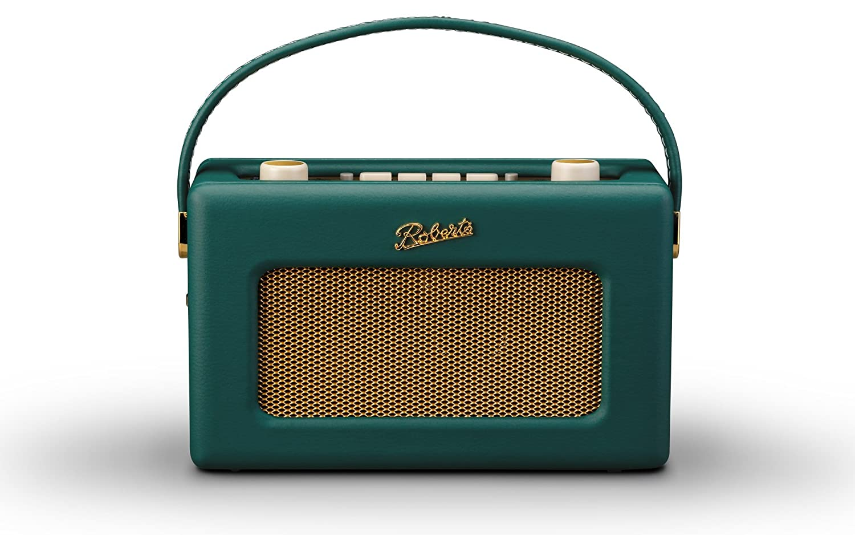 ロバーツラジオ R300 レザークロス グリーン 英国王室御用達 日本仕様モデル ACアダプター付き B078K5T8R6