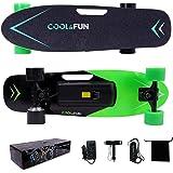 Cool&Fun Planche à Roulettes Motorisée Électrique avec Télécommande Skateboard Électrique de 4 Roues