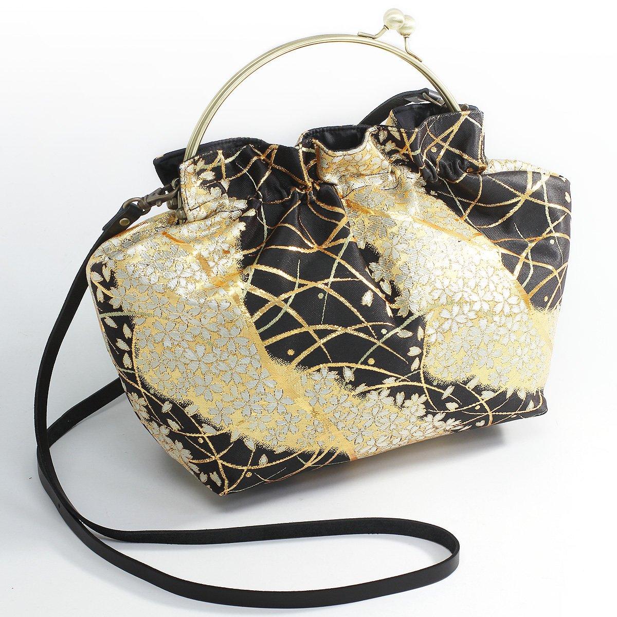 Mieko Women's Japanese Style Bag Traditional Kimono Nishijin-Ori Sakura (Made in Kyoto Japan) by Mieko