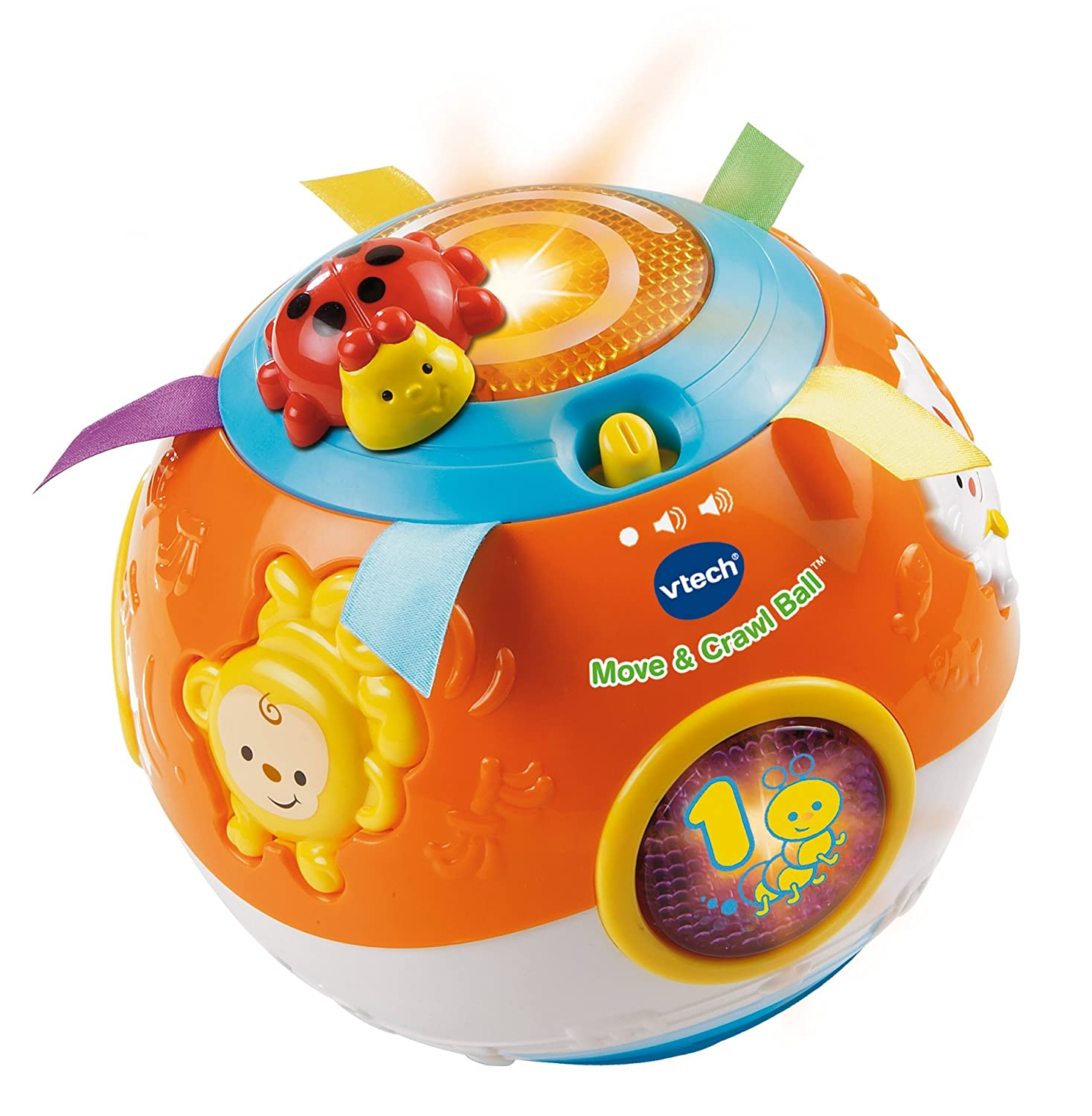 Amazon VTech Move and Crawl Ball Orange Toys & Games