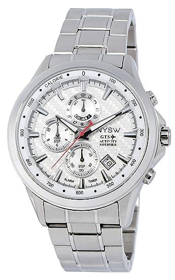 NYSW - Reloj Inteligente híbrido más Lujoso, día mecánico, Cristal de Zafiro, Impresionante