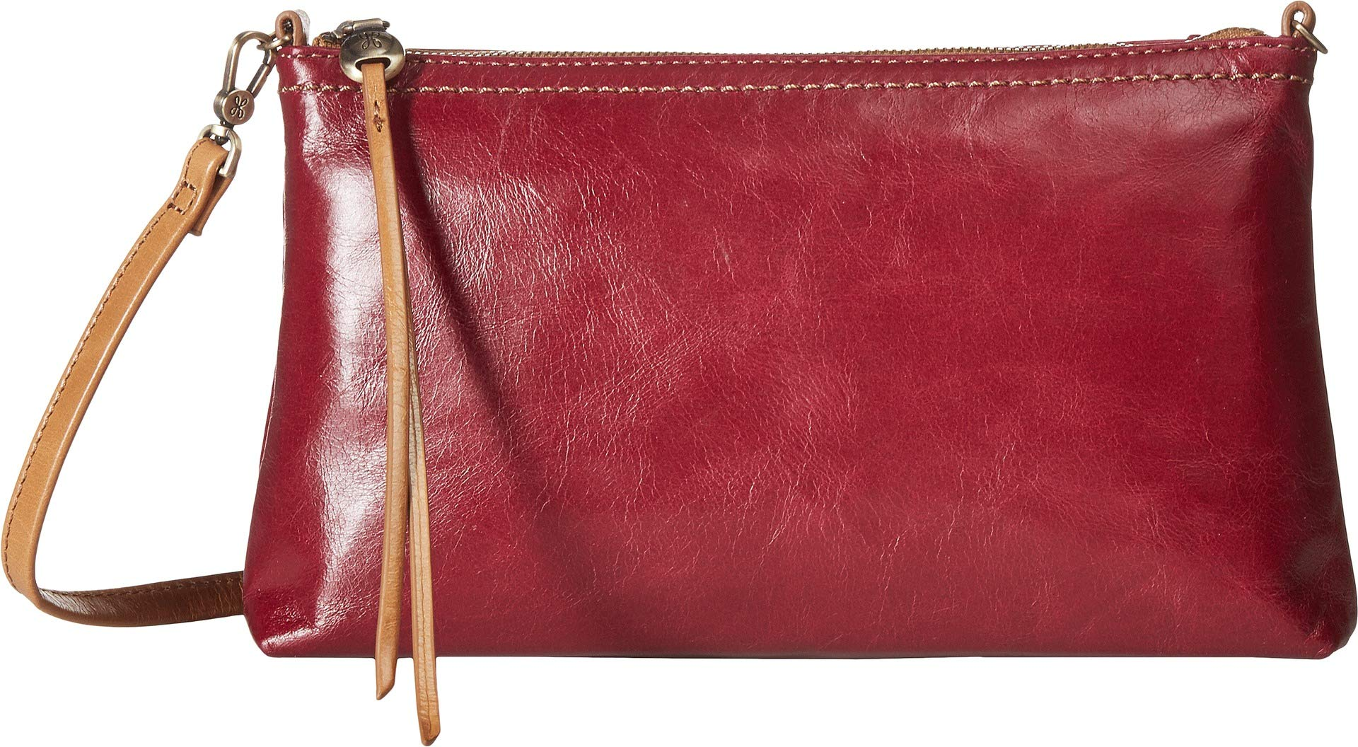 Hobo Womens Leather Vintage Darcy Convertible Crossbody Bag (Ruby)