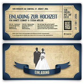 Einladungskarten Zur Hochzeit 30 Stuck Als Eintrittskarte Im