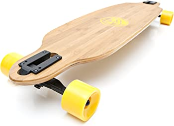 White Wave Bamboo Beginner Longboard