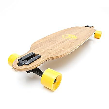 White Wave Bamboo Longboard Skateboard (Bandit)