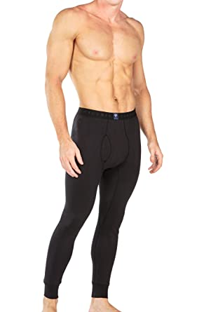 4247306a73329 Men's Organic Cotton Thermal Underwear Long John Pants - Luxury Base Layer
