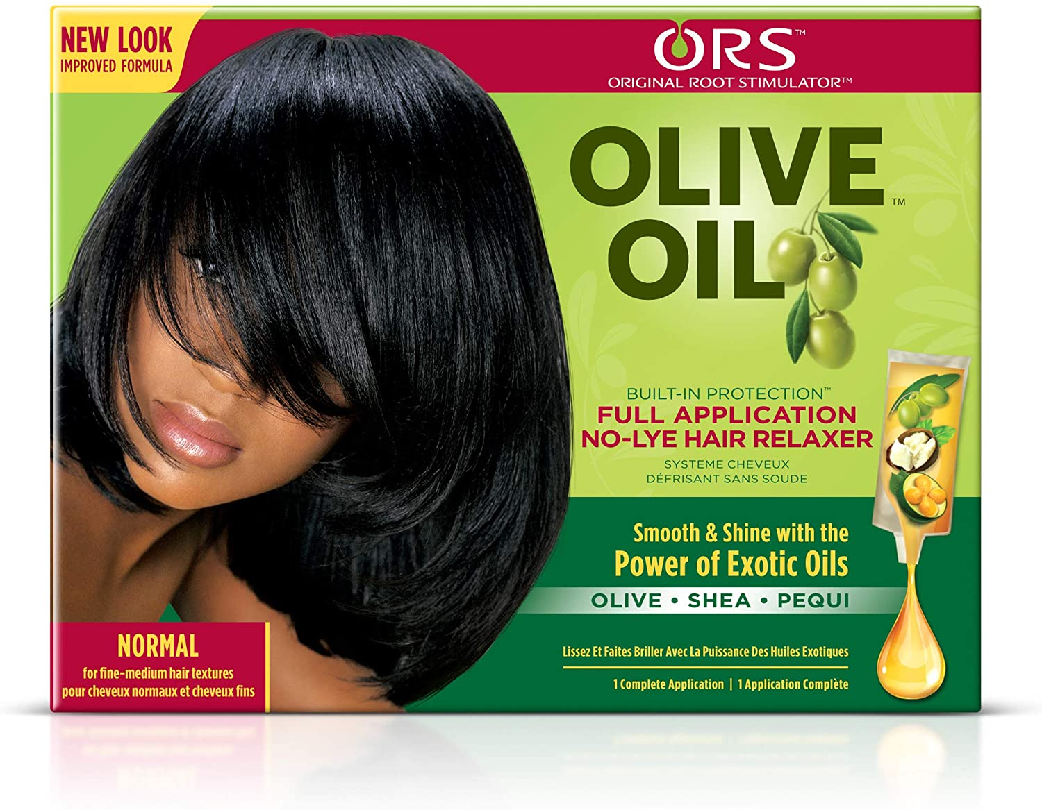 Organic Olive Oil No Lye Relaxer For Normal Hair - 1Kit, by Olive Oil