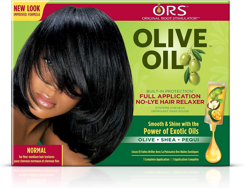 Aceite de oliva orgánico para raíz de pelo de ORS, relajador de pelo normal, sin lejía
