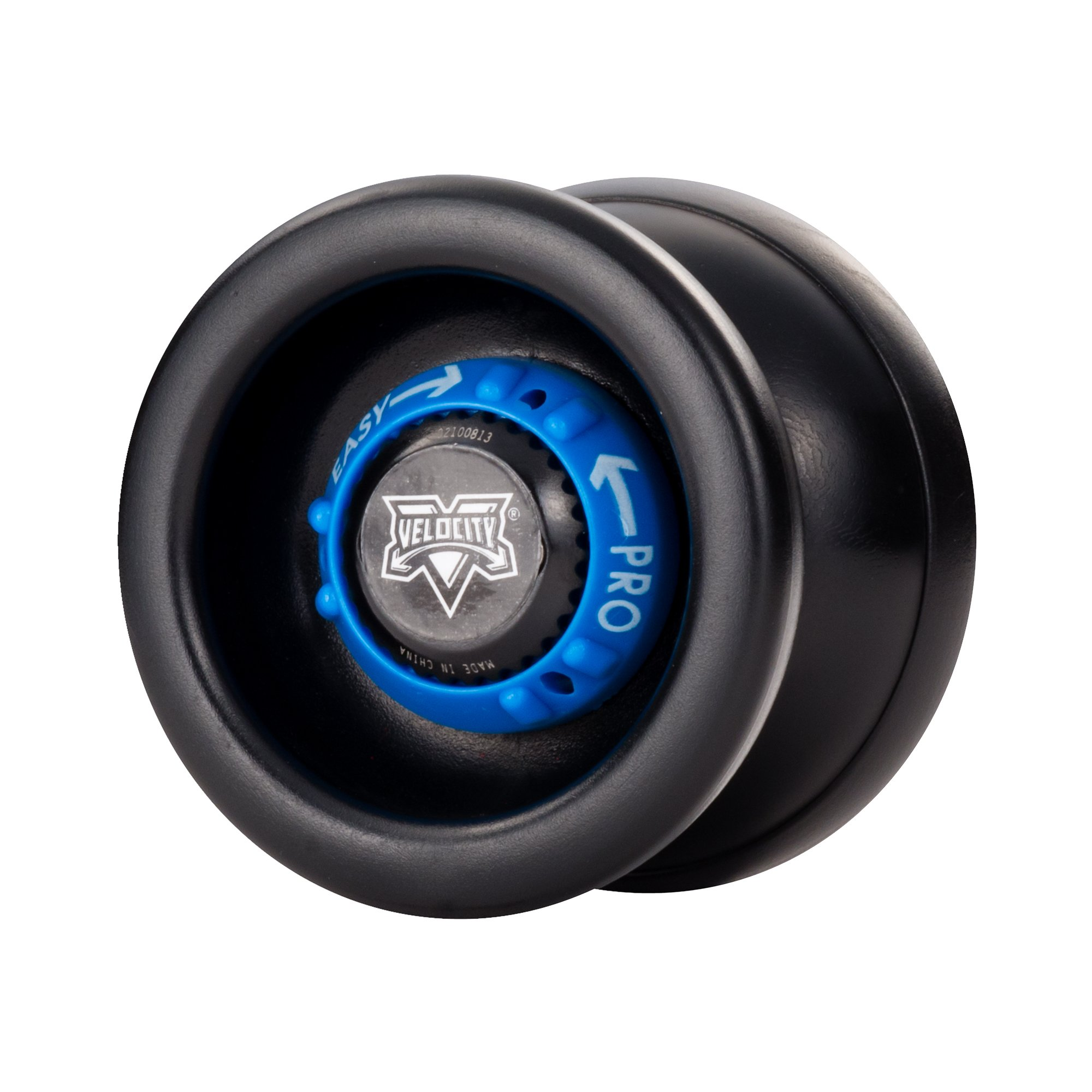 YoYoFactory Velocity Adjustable YoYo - Black with Blue Dial