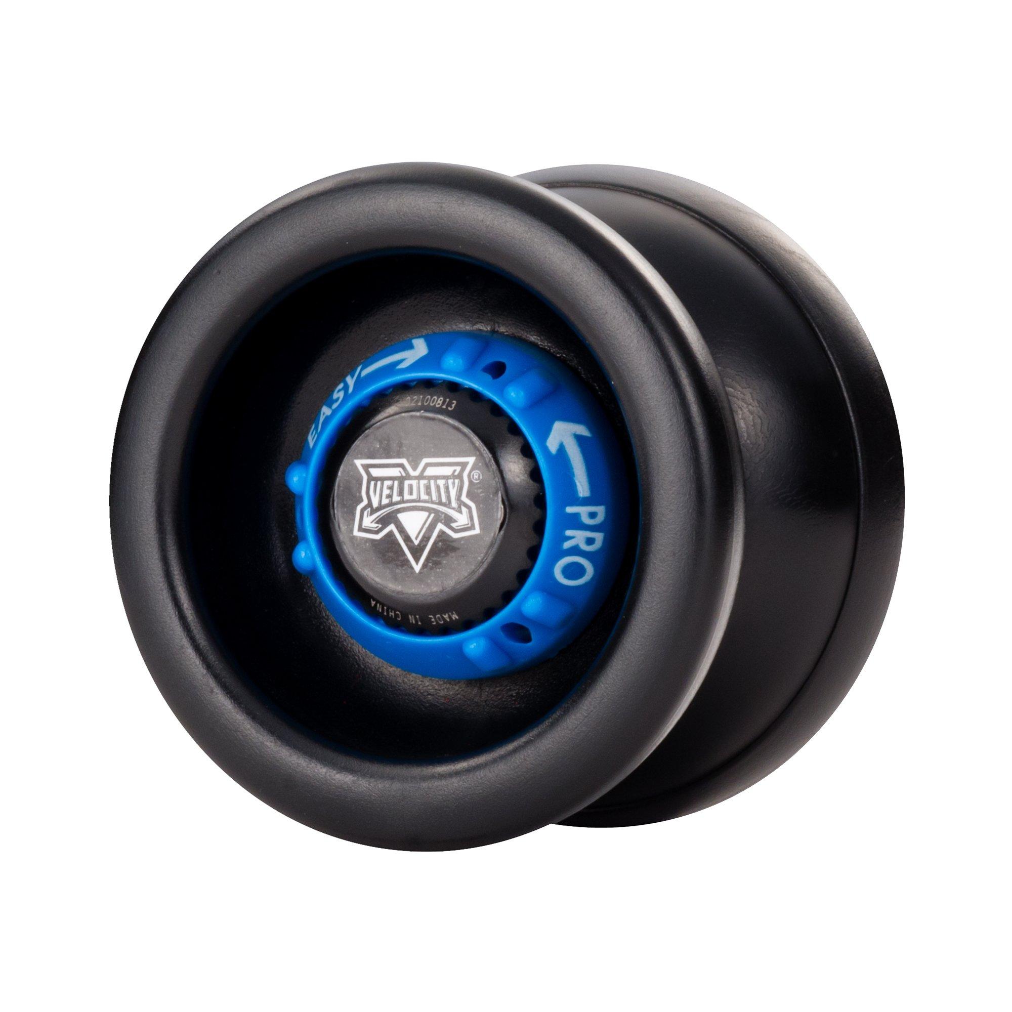 YoYoFactory Velocity Adjustable YoYo - Black with Blue Dial