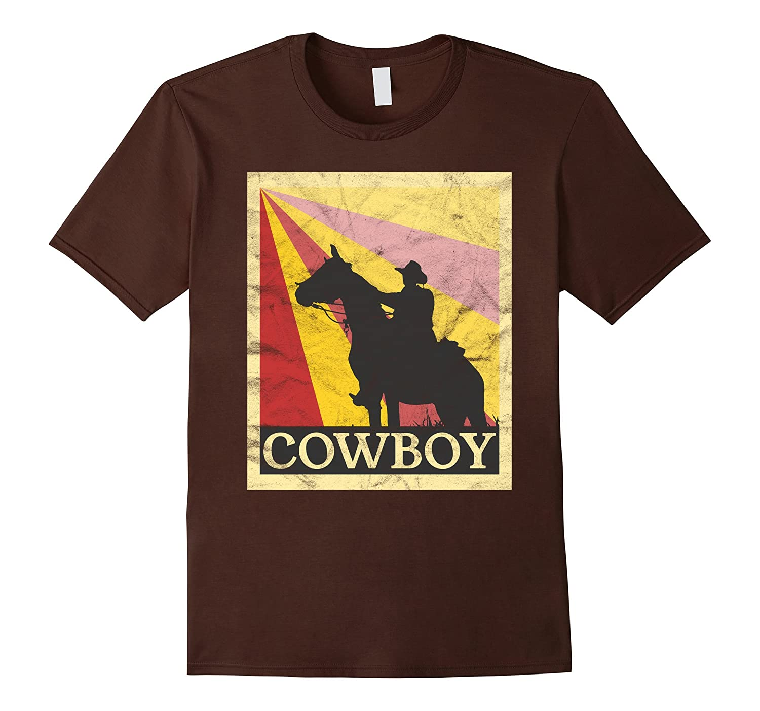 cowboy t shirt retro vintage style cl colamaga. Black Bedroom Furniture Sets. Home Design Ideas