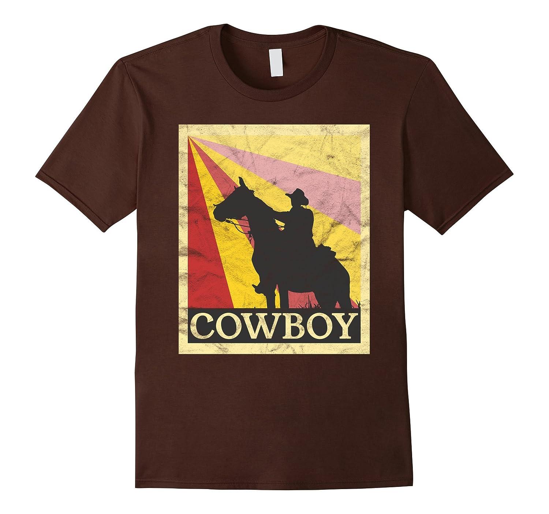 Cowboy T Shirt Retro Vintage Style Cl Colamaga