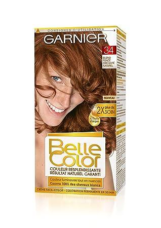 garnier belle color coloration permanente rouge 34 blond fonc dor cuivr naturel lot - Coloration Blond Fonce Dore