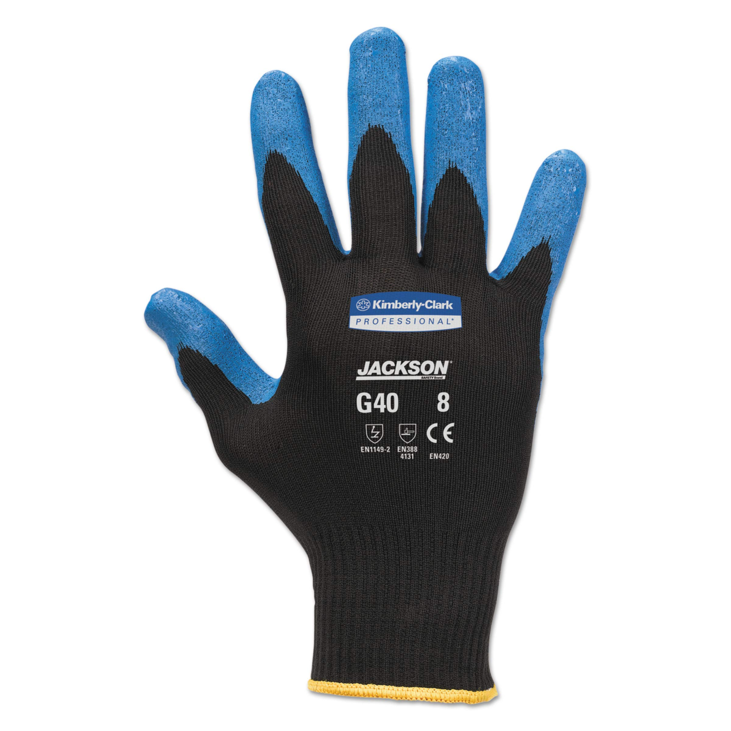 Jackson Safety 40228 G40 Nitrile Coated Gloves, 250 mm Length, X-Large/Size 10, Blue (Pack of 12 Pairs)