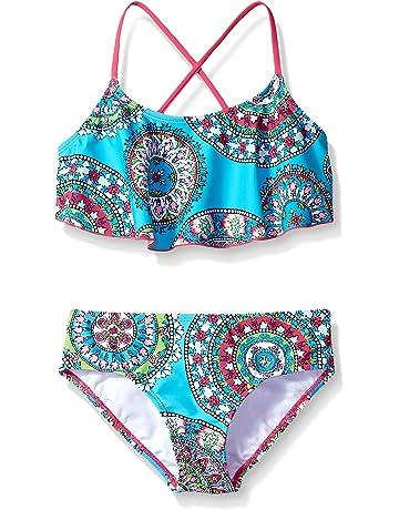 a0e9459ee0f Kanu Surf Girls  Alania Flounce Bikini Beach Sport 2-Piece Swimsuit