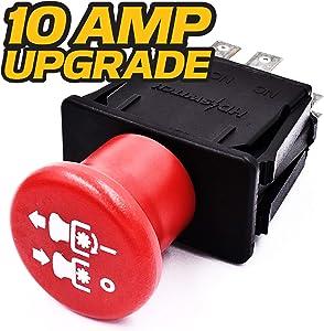 HD Switch Blade Clutch PTO Switch Replaces 776476 Hustler Super Z - ZR7 - Mini Z - X One - Z4 - FasTrak - Raptor - Sport - TrimStar - Z Series - 10 AMP Upgrade