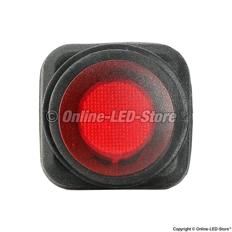 6pc 12v Dc 25 Amp On Off Rocker Switch Ip65 Waterproof Switches Illuminated Red Led Oval 16 3p Spst Indicator Automotive