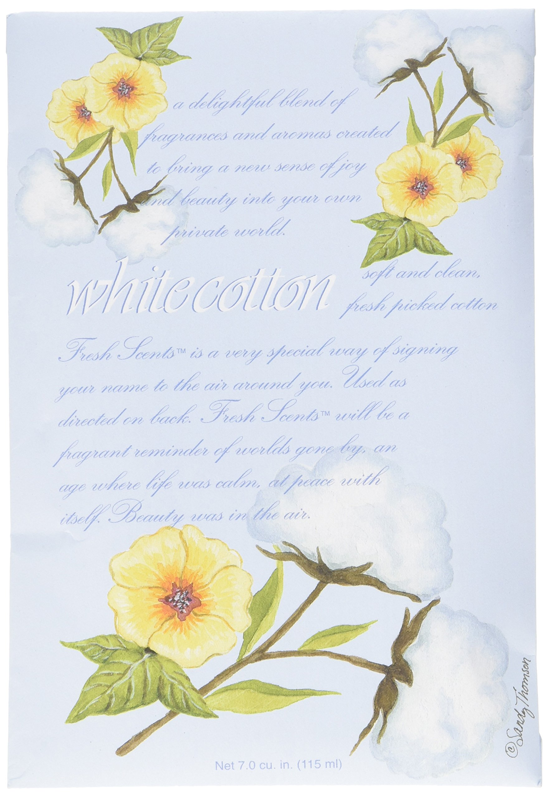 WILLOWBROOK Fresh Scents Scented Sachet White Cotton