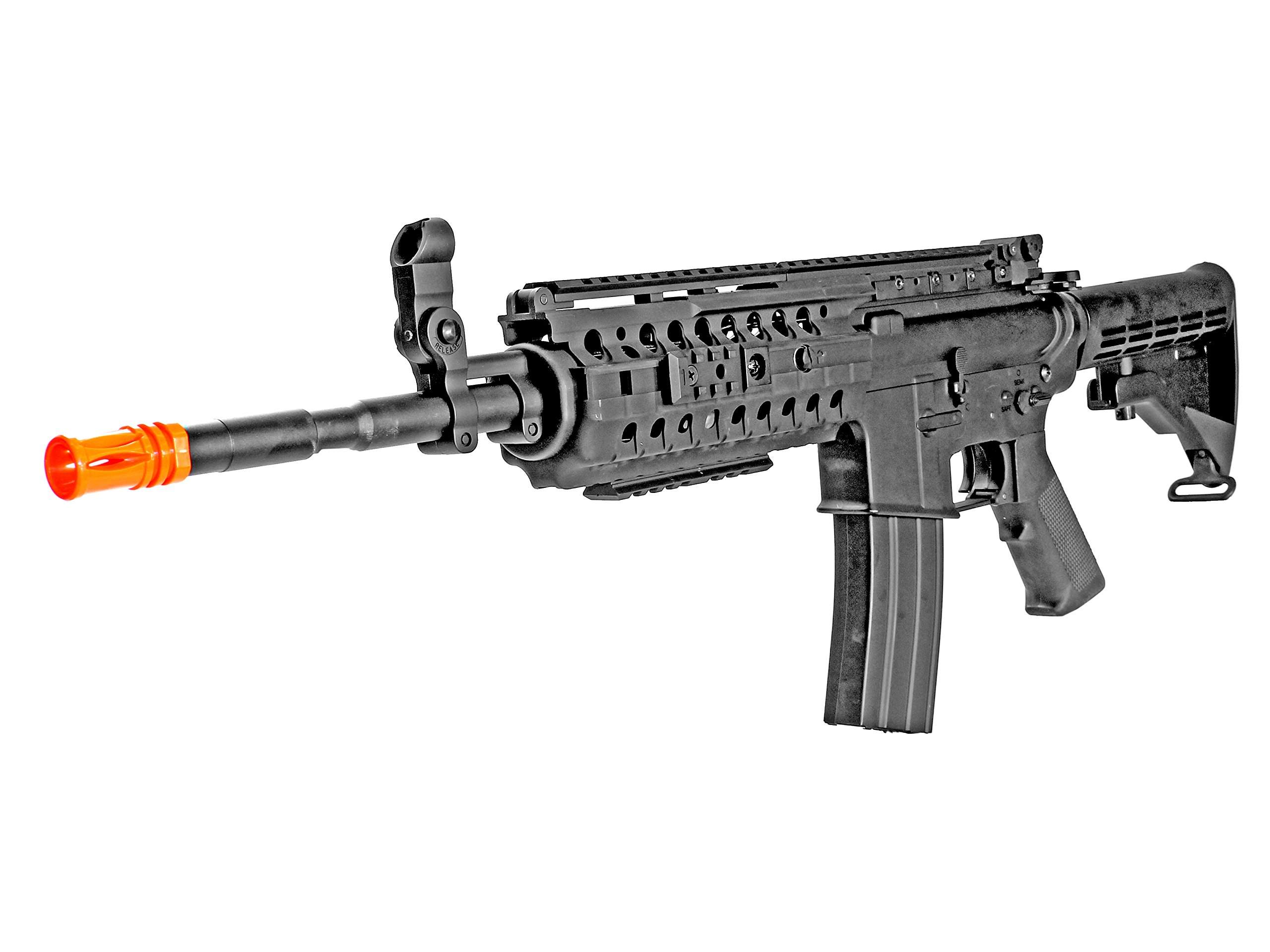 MetalTac JG FB-6613 Electric Airsoft Gun with Rail Mounting System, Full Metal Body, Metal Gearbox Version 2, Auto AEG, Upgraded Powerful Spring 410 Fps with .20g BBs