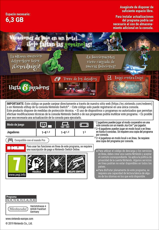 Luigis Mansion 3 Standard | Nintendo Switch - Código de descarga: Amazon.es: Videojuegos