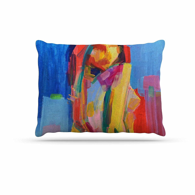 KESS InHouse Cecibd bluee Aqua Watercolor Dog Bed, 50  x 40