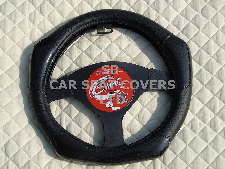 /adecuado para Ford Ka coche de fibra de carbono Look R1/negro R/ Funda para volante