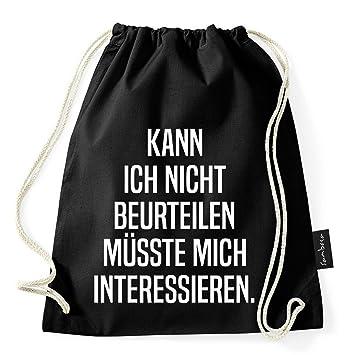 Bolsa-mochila para gimnasio de Sambosa con más de 60 frases y diseños:en negro, de yute, para deporte, estilo hipster: Amazon.es: Equipaje