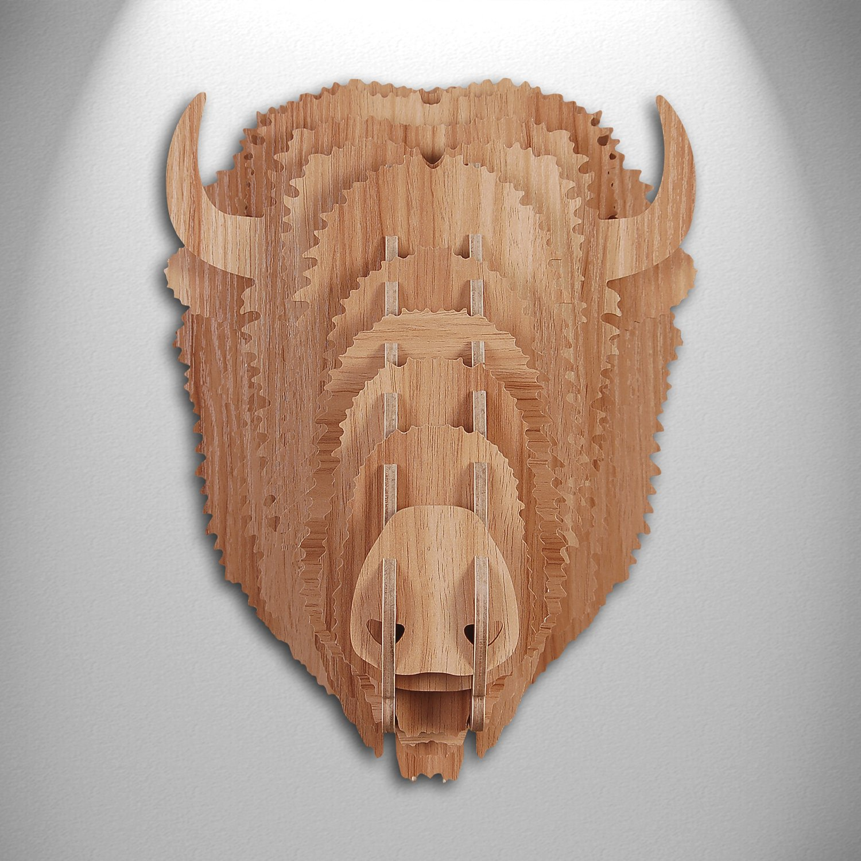 World Art ADM Team Cervo Ciervo Rompecabezas 3D con Sujeto Multicolor Madera 49x35x64 cm