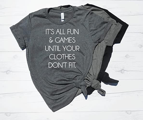 53688666 Its All Fun And Games Until Your Clothes Don't Fit Shirt, Pregnancy  Announcement Shirt, Baby Shower, Pregnancy Reveal, Mom To Be Shirt, New Mom,  Pregnant