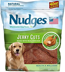 Nudges Health and Wellness Chicken Jerky Dog Treats, 40 oz (3 Pack) Nudges-Ss