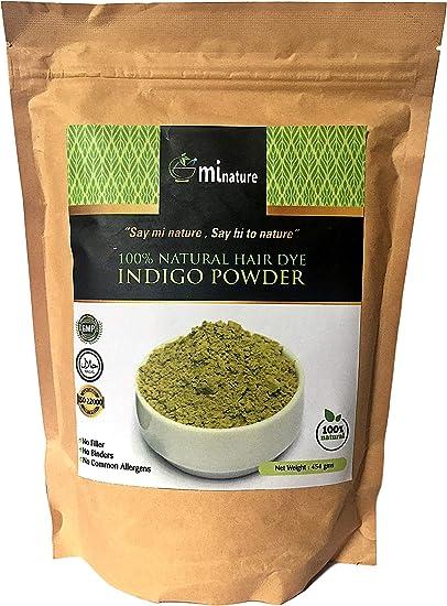 Indigo Powder XXL 454g (1lb) 100% natural tinte para el cabello, grado de exportación, sin aditivos